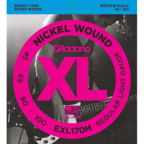 D'Addario EXL170M XL Soft/Medium Bass String Set
