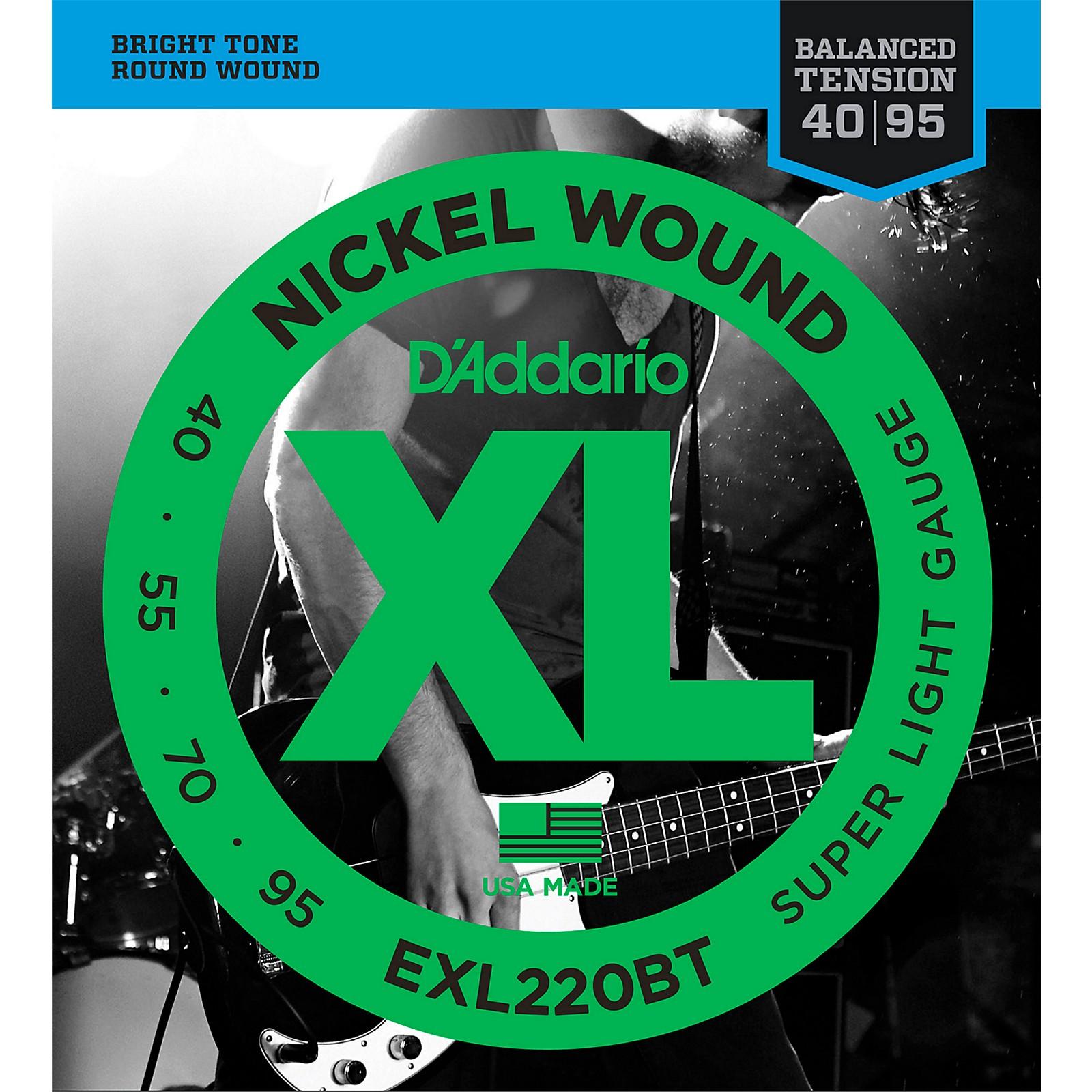 D'Addario EXL220BT Balanced Tension 40-95 Long Scale Electric Bass String Set