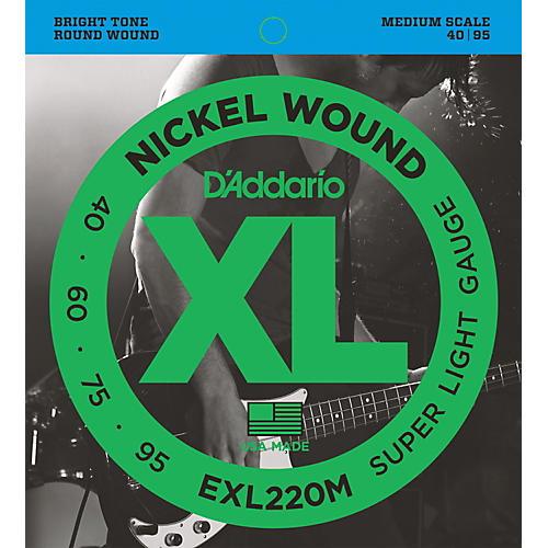 D'Addario EXL220M XL Bass Super Soft/Medium Scale Bass Strings