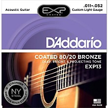 D'Addario EXP13 Coated 80/20 Bronze Custom Light Acoustic Guitar Strings