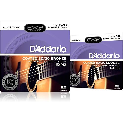 D'Addario EXP13 Coated Electric Super Light Guitar Strings 2-Pack