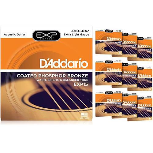 D'Addario EXP15 Acoustic Strings 10 Pack