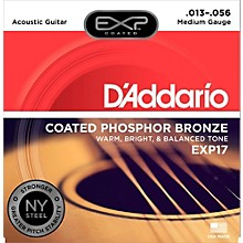 D'Addario EXP17 Coated Phosphor Bronze Medium Acoustic Guitar Strings