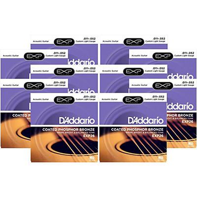 D'Addario EXP26 Acoustic Strings 10 Pack