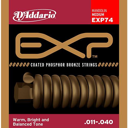 D'Addario EXP74 Coated Phosphor Bronze Medium Mandolin Strings