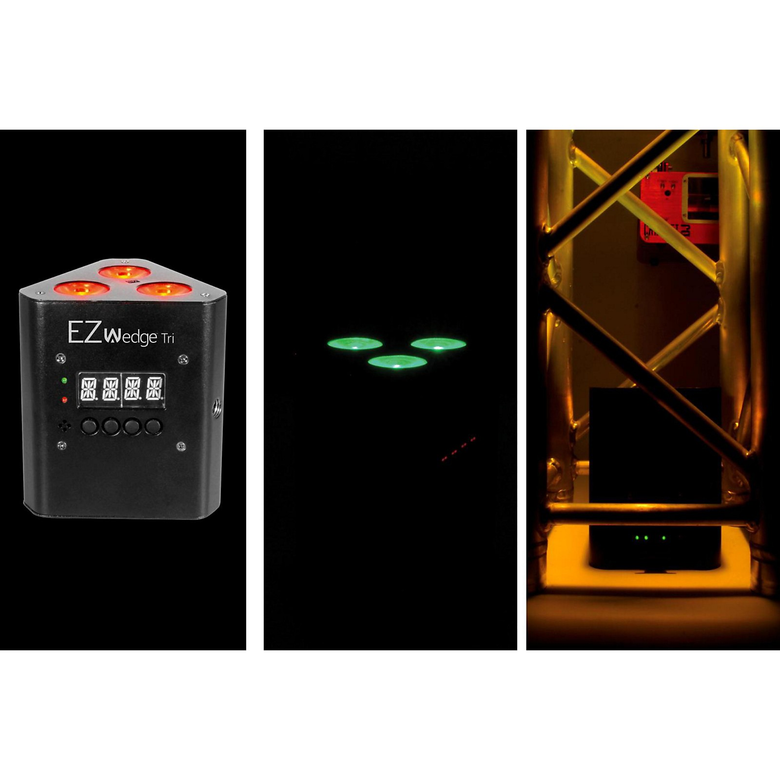 CHAUVET DJ EZwedge Tri Battery-Operated Tri-Color LED Wash/Stage Light