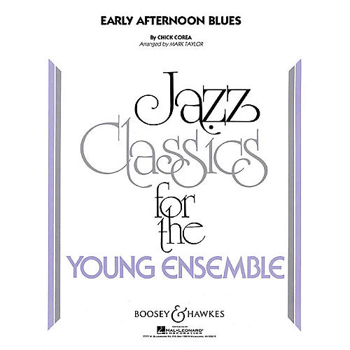 Hal Leonard Early Afternoon Blues (jazz Ensemble Grade 3) Full Score Concert Band