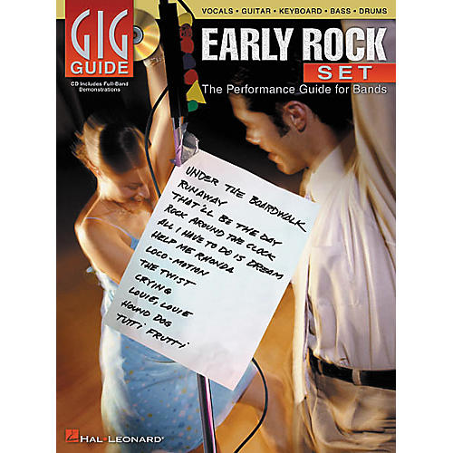 Hal Leonard Early Rock Set Gig Guide Book with CD