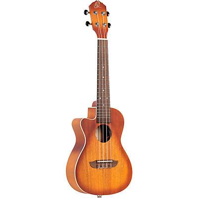 Ortega Earth Series RUDAWN-CE-L Left-Handed Acoustic Electric Concert Ukulele