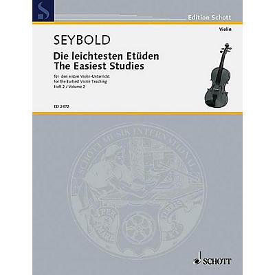 Schott Easiest Violin Etudes Vol. 2 Schott Series