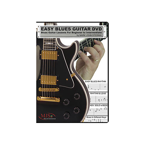 MJS Music Publications Easy Blues Guitar DVD: Blues Guitar Lessons for Beginner through Intermediate