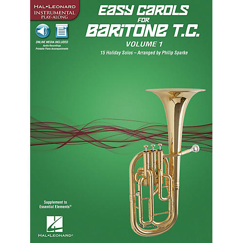 Hal Leonard Easy Carols for Baritone T.C. - Vol. 1 Instrumental Folio Series Softcover Media Online