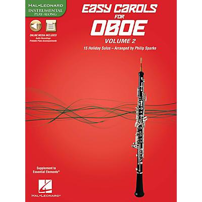 Hal Leonard Easy Carols for Oboe, Vol. 2 (15 Holiday Solos) Instrumental Folio Series Book Media Online