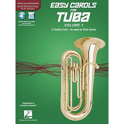 Hal Leonard Easy Carols for Tuba, Vol. 1 (15 Holiday Solos) Instrumental Folio Series Softcover Media Online