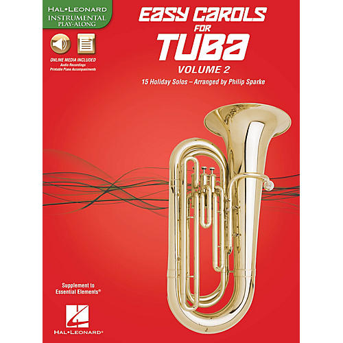 Hal Leonard Easy Carols for Tuba, Vol. 2 (15 Holiday Solos) Instrumental Folio Series Softcover Media Online