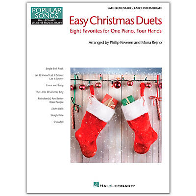 Hal Leonard Easy Christmas Duets - Popular Songs Series-Late Elem/Early Intermediate 1 Piano/4 Hands