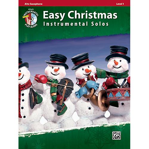 Alfred Easy Christmas Instrumental Solos Level 1 Alto Sax Book & CD