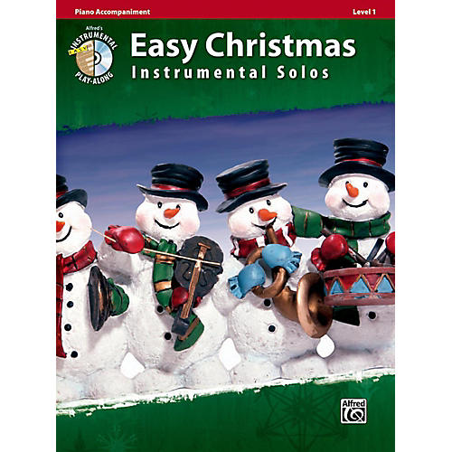 Alfred Easy Christmas Instrumental Solos Level 1 Piano Acc. Book & CD