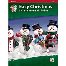 Alfred Easy Christmas Instrumental Solos Level 1 Trombone Book & CD