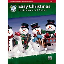 Alfred Easy Christmas Instrumental Solos Level 1 for Strings Cello Book & CD