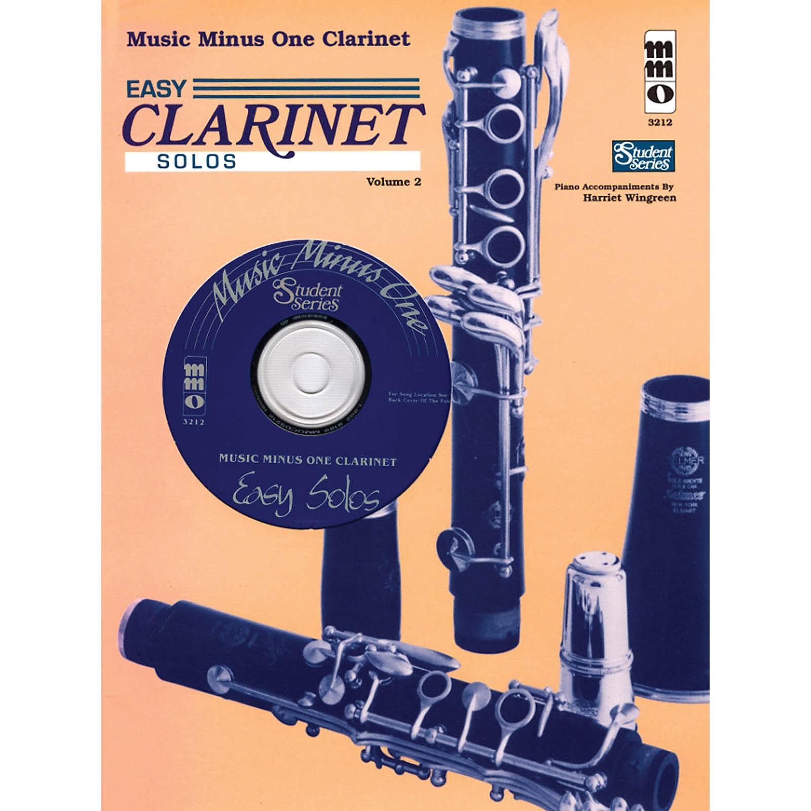 Music Minus One Easy Clarinet Solos, Vol. II - Student Level Music Minus One Series BK/CD