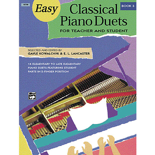 Alfred Easy Classical Piano Duets for Teacher and Student Book 3