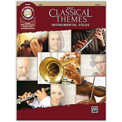 Alfred Easy Classical Themes Instrumental Solos Cello Book & CD Level 1