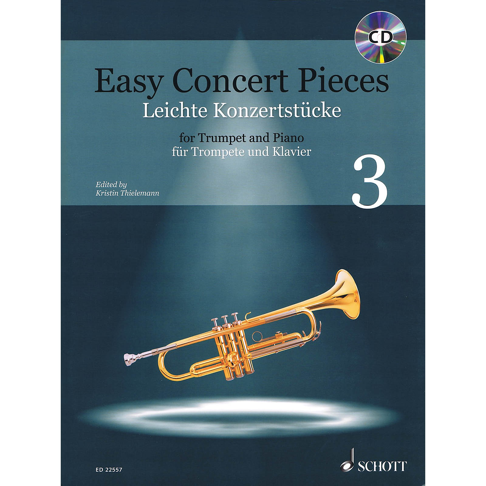 Schott Easy Concert Pieces - 22 Pieces from 5 Centuries for Trumpet and Piano Book/CD
