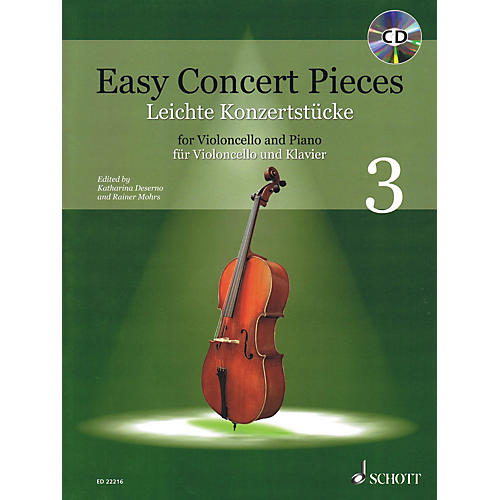 Schott Easy Concert Pieces - Volume 3 (Cello and Piano) String Series Softcover with CD