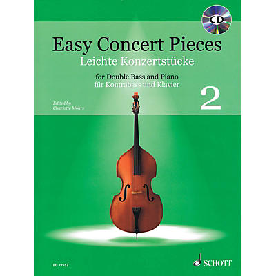 Schott Easy Concert Pieces, Book 2 (24 Easy Pieces from 5 Centuries using Half to 3rd Position) Book/CD