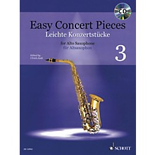 Schott Easy Concert Pieces Book 3 (17 Pieces from 6 Centuries) Alto Saxophone and Piano Book/CD