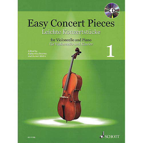 Schott Easy Concert Pieces Volume 1 (Cello and Piano) String Series Softcover with CD