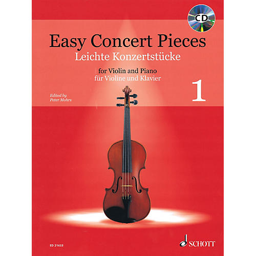 Schott Easy Concert Pieces for Violin and Piano - Volume 1 String Series Softcover with CD Composed by Various