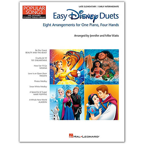 Hal Leonard Easy Disney Duets - Popular Songs Series Late Elementary/Early Intermediate Level