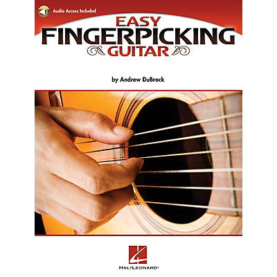 Hal Leonard Easy Fingerpicking Guitar Guitar Educational Series Softcover Audio Online Written by Andrew DuBrock