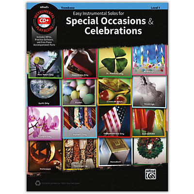 Alfred Easy Instrumental Solos for Special Occasions & Celebrations Trombone Book and MP3 CD
