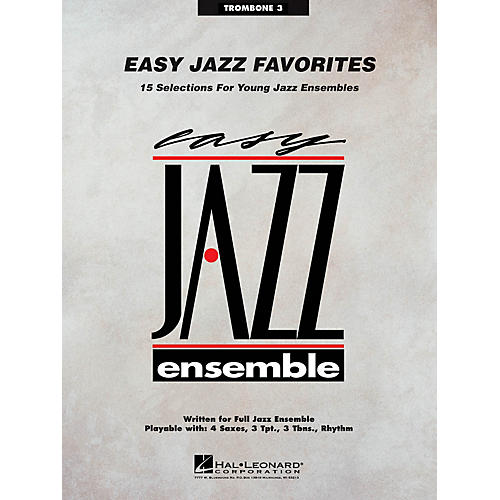 Hal Leonard Easy Jazz Favorites - Trombone 3 Jazz Band Level 2 Composed by Various
