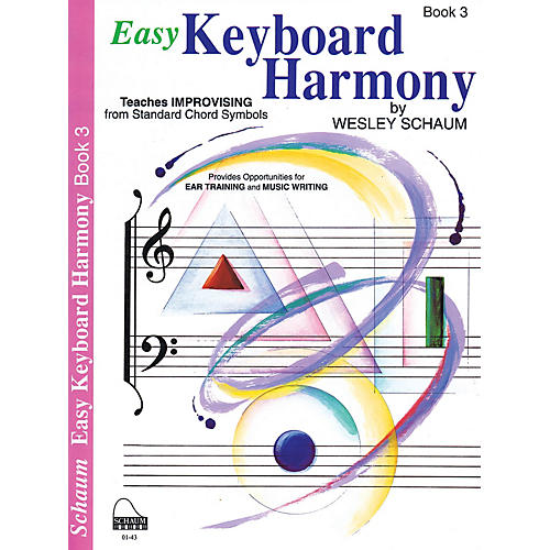 SCHAUM Easy Keyboard Harmony (Book 3 Inter Level) Educational Piano Book by Wesley Schaum