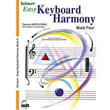 SCHAUM Easy Keyboard Harmony (Book 4 Inter Level) Educational Piano Book by Wesley Schaum