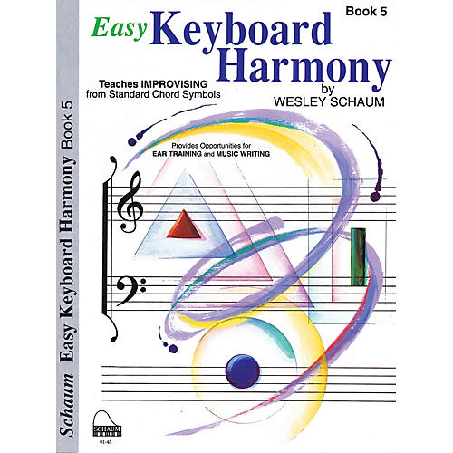 SCHAUM Easy Keyboard Harmony (Book 5 Early Advanced Level) Educational Piano Book by Wesley Schaum