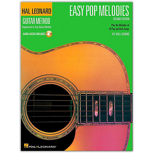 Hal Leonard Easy Pop Melodies - 2nd Edition Guitar Method Songbook with Online Audio