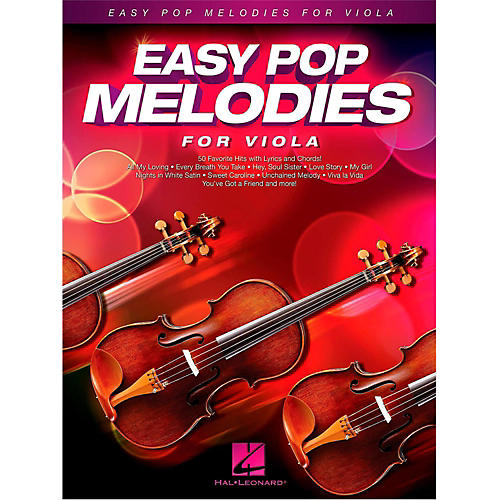 Hal Leonard Easy Pop Melodies For Viola