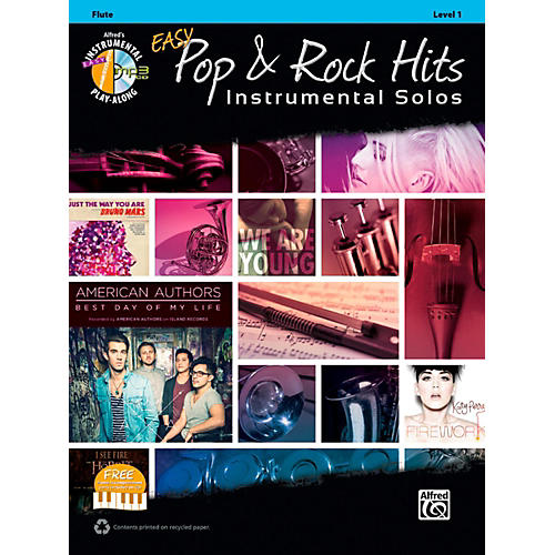 Alfred Easy Pop & Rock Instrumental Solos Flute Book & CD