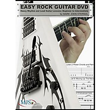 MJS Music Publications Easy Rock Guitar DVD: Heavy Rhythm and Lead Guitar Lessons: Beginner to Intermediate