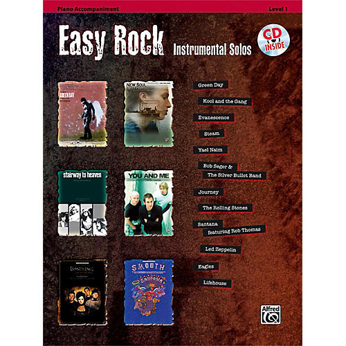 Alfred Easy Rock Instrumental Solos Level 1 Piano Acc. Book & CD