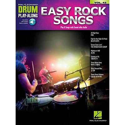 Hal Leonard Easy Rock Songs - Drum Play-Along Volume 42 Book/Audio Online