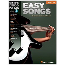 Hal Leonard Easy Songs - Bass Play-Along, Volume 34 (Book/online Audio)