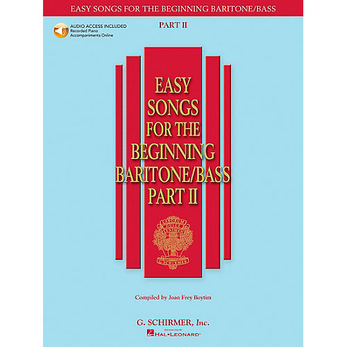 G. Schirmer Easy Songs for The Beginning Baritone / Bass Part II Book/CD
