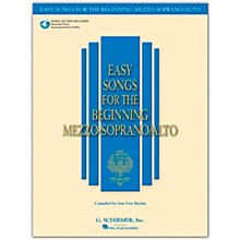 G. Schirmer Easy Songs for The Beginning Mezzo-Soprano / Alto Book/Online Audio