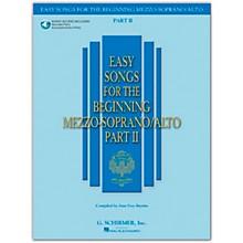 G. Schirmer Easy Songs for The Beginning Mezzo-Soprano / Alto Part II Book/Online Audio